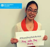 """To the amazing workers and SOS colleagues fighting ‪#‎Ebola‬‬‬ in ‪#‎WestAfrica‬‬‬ - we are ‪#‎StandingSideBySide‬‬‬ with you."" (SOS USA)"