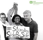 Tünde Matyas, Jeanne Mukaruhogo, Wilfried Vyslozil: #StandingSideBySide to our colleagues in Liberia, Sierra Leone and Guinea: We admire the courage you display ever day in combat against Ebola and your help.