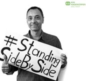 "Louay Yassin, Pressesprecher der SOS-Kinderdörfer weltweit in München: ""Thanks to everyone supporting the people in Ebola affected areas. You are doing a great job.""  #StandingSideBySide"