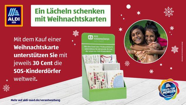 Weihnachtskarten Aldi Süd.Sos Weihnachtskarten Bei Aldi Süd Sos Kinderdörfer Weltweit
